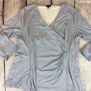 Talbot's Cross Over Casual Blouse Periwinkle